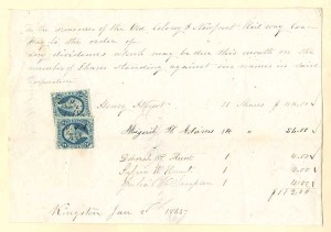 Abigail H. Adams signed Receipt - SOLD