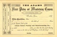 Adams Nickel Plating and Manufacturing Company