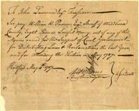 Document signed by Andrew Adams and Benjamin Huntinton