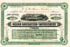 Aguan Navigation & Improvement Company - Stock Certificate