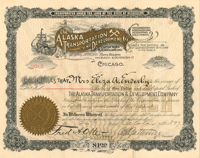 Alaska Transportation and Development Co. - SOLD