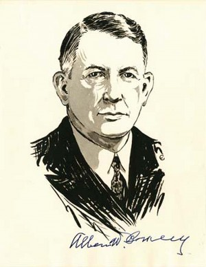Signed Portrait of Alben W. Barkley - SOLD