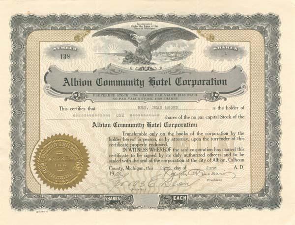 Albion Community Hotel Corporation