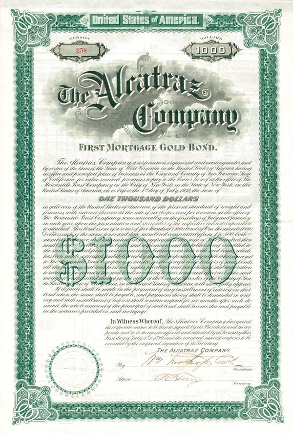Alcatraz Company - $1,000