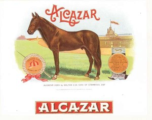 "Cigar Box Label ""Alcazar"" - SOLD"