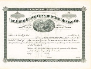 Alder Gulch Consolidated Mining Co. - SOLD