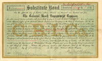 Colonial Beach Improvement Company signed by Alexander Melville Bell - SOLD