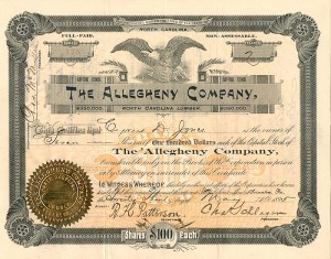 Allegheny Company, North Carolina Lumber