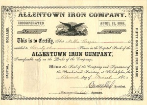 Allentown Iron Company - SOLD