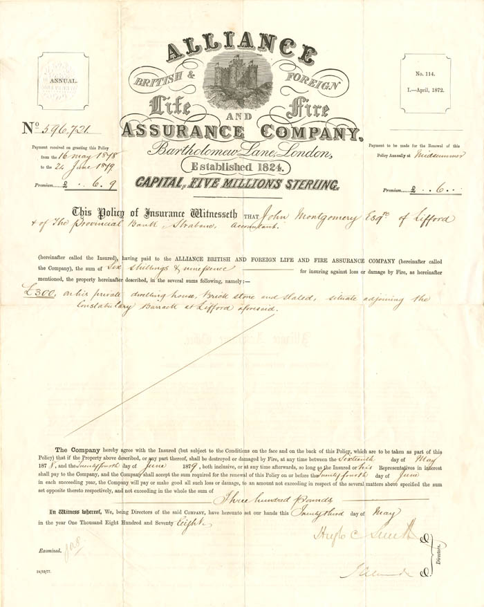 Alliance British & Foreign Life and Fire Assurance Company