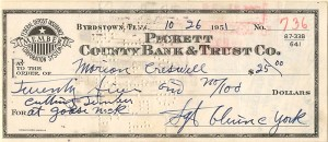 Sgt. Alvine York signed Check - SOLD