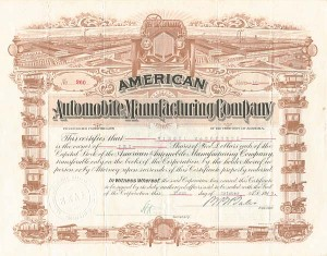 American Automobile Manufacturing Company - SOLD