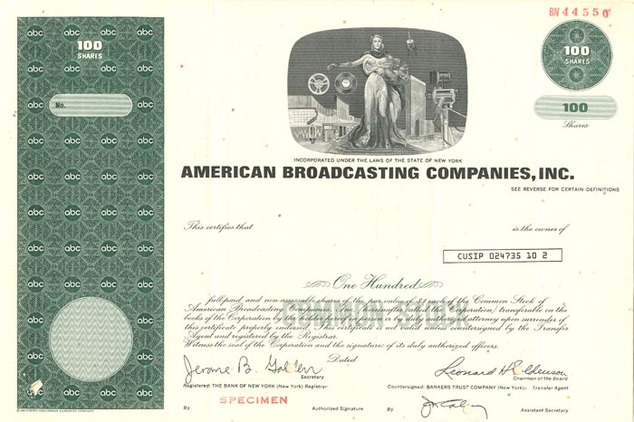 American Broadcasting Companies, Inc. - SOLD