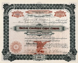 American Consolidated Copper Company