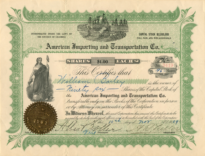 American Importing and Transportation Co.