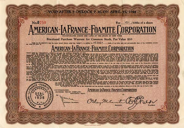 American-LaFrance-Foamite Corporation