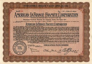 American-Lafrance & Foamite Corporation -SOLD