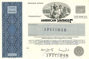 American Savings and Loan Association of Florida - SOLD