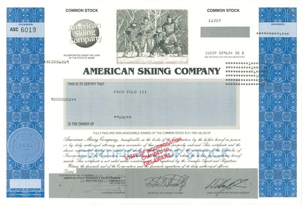 American Skiing Co