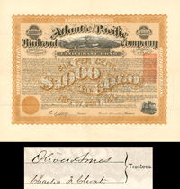 Atlantic and Pacific Railroad Company - $1,000