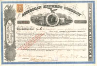 American Express Company signed by Henry Wells and James C. Fargo