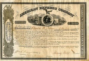 American Express Company signed by Henry Wells and Wm. G. Fargo