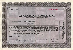Anchorage Homes, Inc.