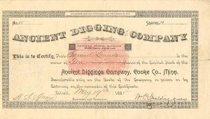 Ancient Diggings Company, Cooke Co., Minn.