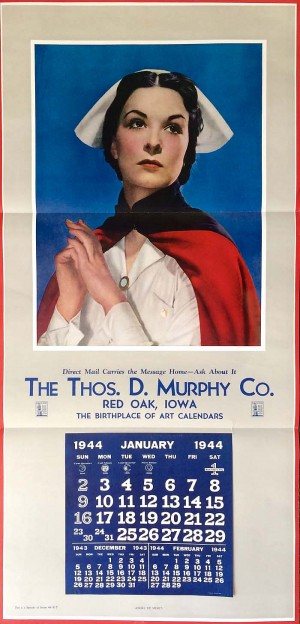 "Thos. D. Murphy Co. Calendar ""Angel of Mercy"""