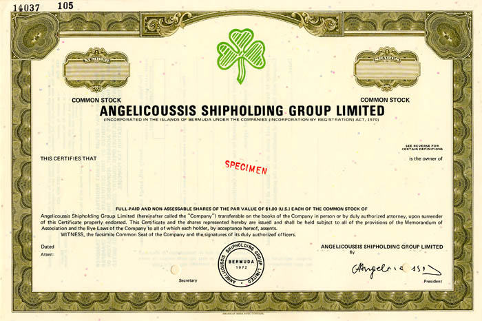 Angelicoussis Shipholding Group Limited