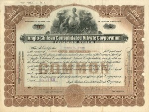 Anglo-Chilean Consolidated Nitrate Corporation - SOLD