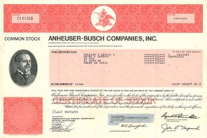 "Anheuser-Busch Companies, Inc. ""SOLD"""