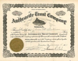 Anthracite Trust Company - SOLD