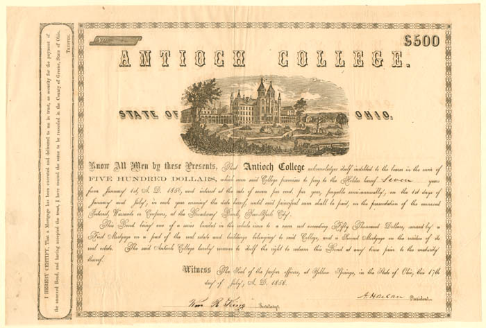 Antioch College - $500