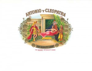 "Cigar Box Label ""Antonio & Cleopatra"""