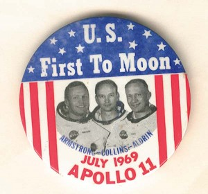 U.S. First To Moon Pin