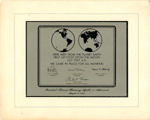 Apollo 11 Astronauts Plaque - SOLD