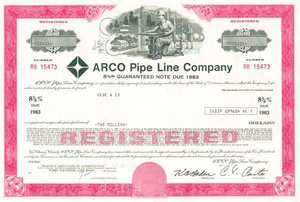 Arco Pipe Line Company - $2,000,000 Bond