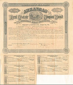 Arkansas Real Estate Coupon Bond - SOLD
