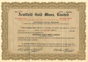 Arntfield Gold Mines, Limited