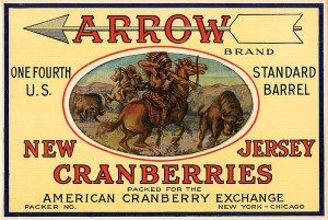Fruit Crate Label - Arrow New Jersey Cranberries