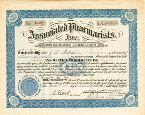 Associated Pharmacists, Inc - Stock Certificate