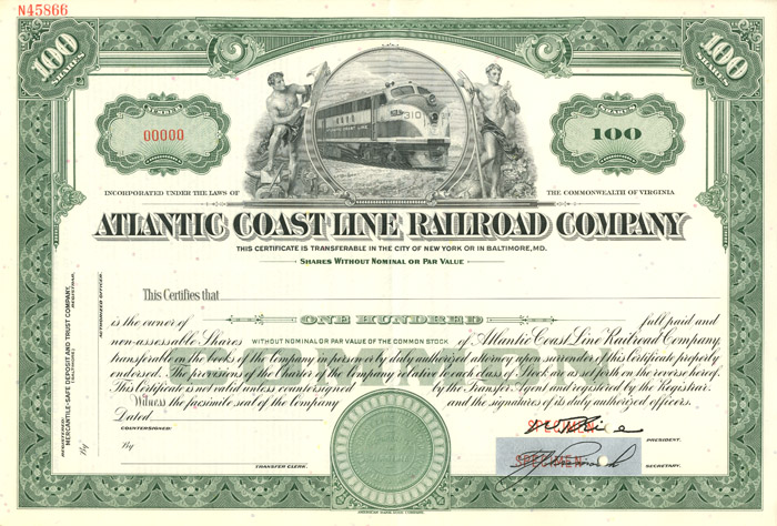 Atlantic Coast Line Company - SOLD