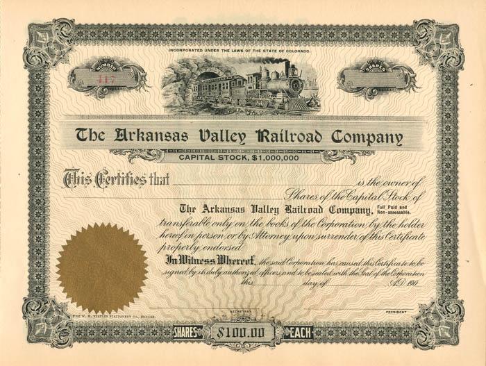 Arkansas Valley Railroad Company