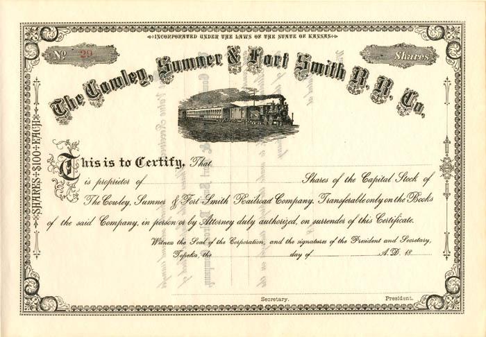 Cowley, Sumner & Fort Smith R.R. Co.