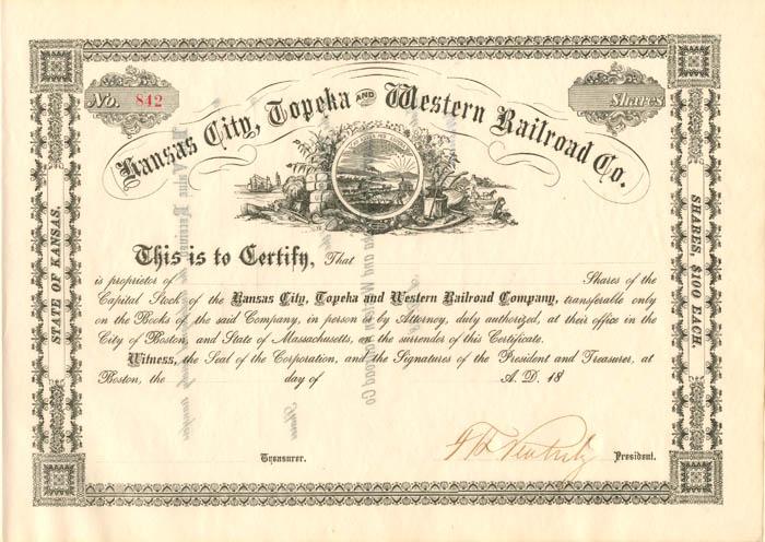 Kansas City, Topeka and Western Railroad Co.