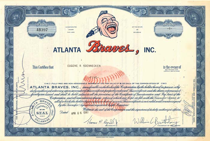 Atlanta Braves, Inc. - SOLD