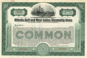 Atlantic, Gulf and West Indies Steamship Lines - SOLD