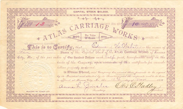 Atlas Carriage Works - SOLD
