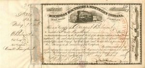 August Belmont - Michigan Southern & Northern Indiana Railroad Company